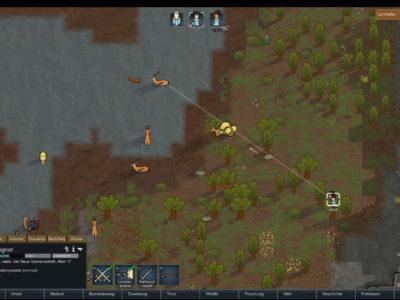 Ein Kolonist am Jagen