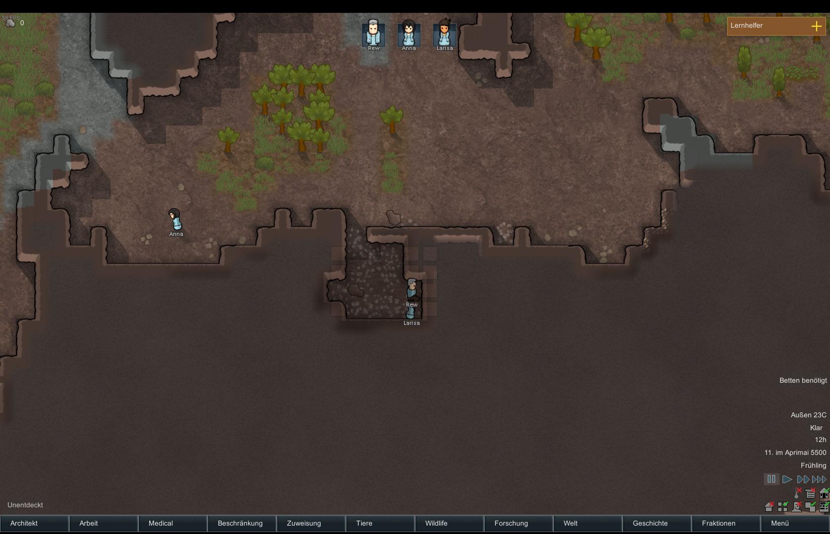Rimworld berlebenssimulation und koloniemanagement in for Zimmer einrichten simulation
