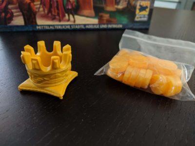 Startspieler-Krone und Gold