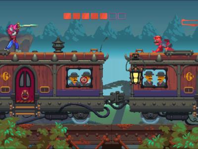 Kämpfen auf dem Zug